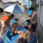 8月最初のプールでの水遊びをしました☆