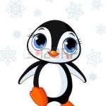 8008619-かわいい冬ペンギン南極大陸のイラスト