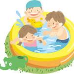 プールで水遊びをしました☆