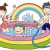 7月最終日は、プールで水遊びをしました☆