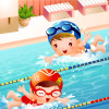 夏休み最後の室内プールにいってきました☆